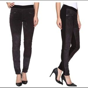 BlankNYC Suede Pull On Zippered Leather Leggings